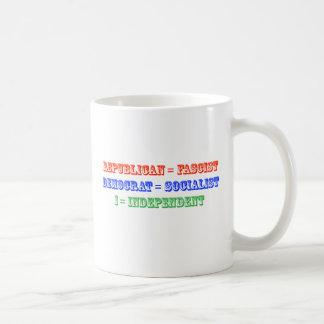 political classic white coffee mug