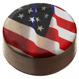 POLITICAL PARTY CAKES-TABLE SETTINGS-AMER FLAG CHOCOLATE DIPPED OREO