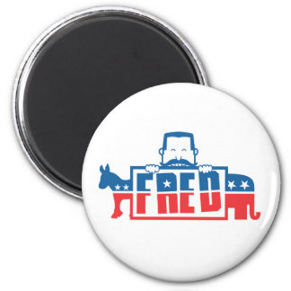 Political Party of Fred 2 Inch Round Magnet