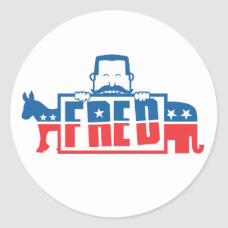 Political Party of Fred Classic Round Sticker