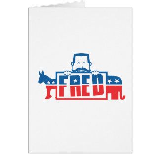 Political Party of Fred Greeting Cards
