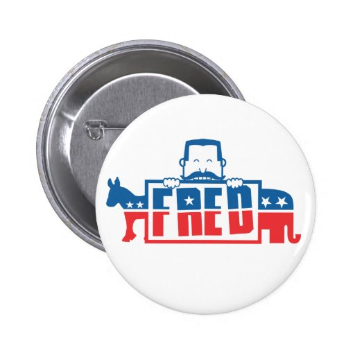 Political Party of Fred Pinback Buttons