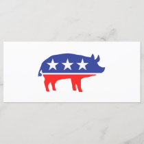 Political Party Pig Mascot