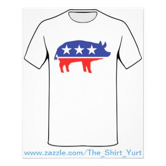 Political Party Pig Mascot Custom Flyer