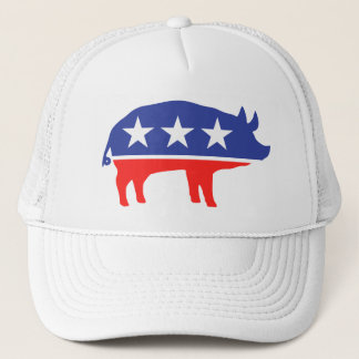 Political Party Pig Mascot Trucker Hat