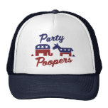 Political Party Poopers Mesh Hat