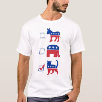 Political Pet Vote Cat T-Shirt