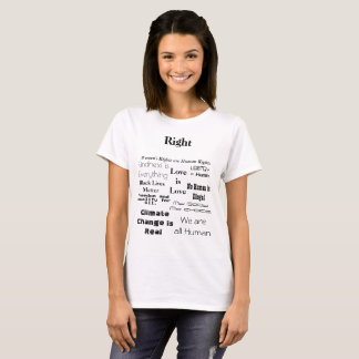 Political Protest Shirt Right and Wrong