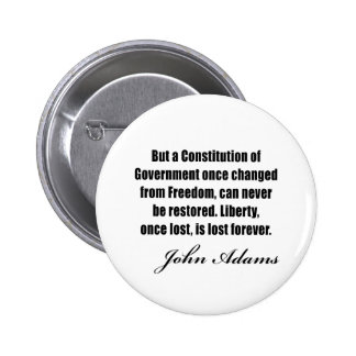 Political quotes by John Adams 2 Inch Round Button