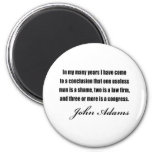 Political quotes by John Adams Magnets