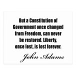 Political quotes by John Adams Post Cards
