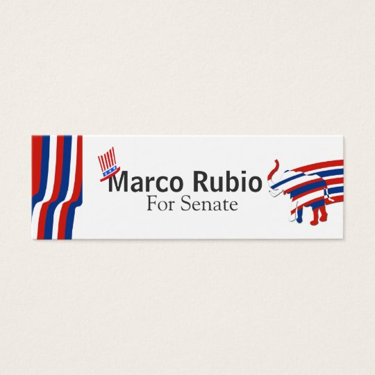 Political Republican  US Mini Business Card