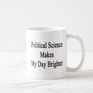 Political Science Makes My Day Brighter Coffee Mug