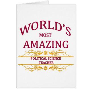 Political Science Teacher Card