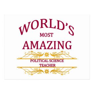 Political Science Teacher Postcard
