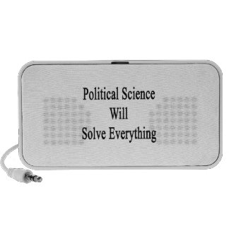 Political Science Will Solve Everything Travelling Speaker