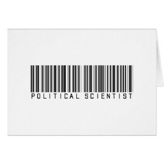 Political Scientist Bar Code Card