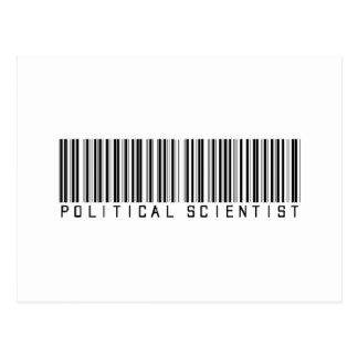 Political Scientist Bar Code Postcard