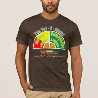 Political Shirt | The Tax - O- Meter | Color