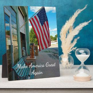 "Political Slogan Trump 'Make America Great"" Plaque"