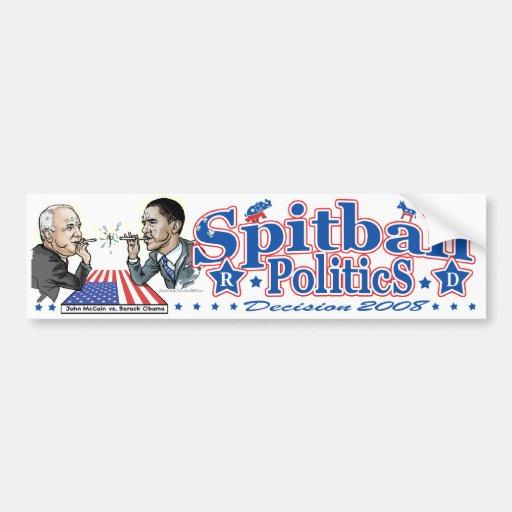 Political Spitballs Car Bumper Sticker