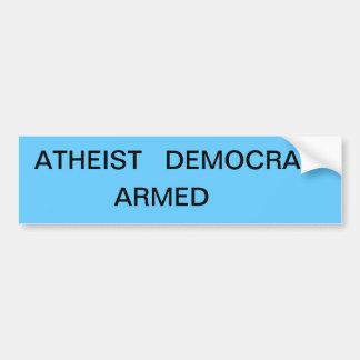 political statement car bumper sticker