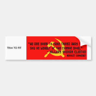 Political sticker car bumper sticker