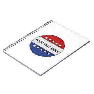 Political Sticker Notebook