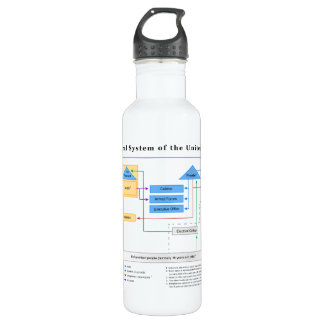Political System of the United States Diagram 24oz Water Bottle