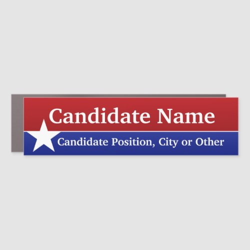 Political Template Classic Candidate Red Blue Star Car Magnet