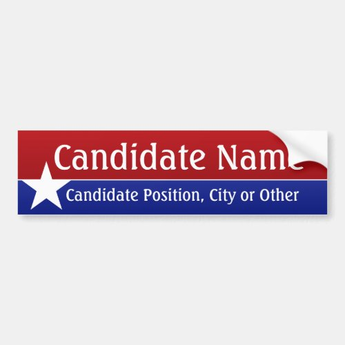 Political Theme _ Customize This Bumper Sticker Bumper Sticker