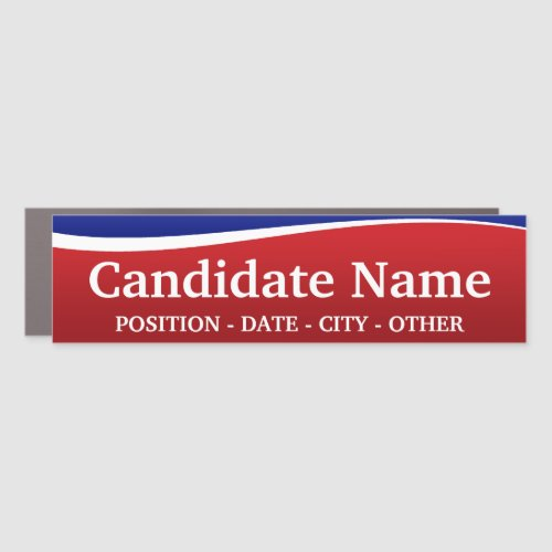 Political Theme _ Customize This Bumper Sticker Car Magnet