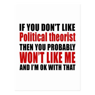 Political theorist. Don't Like Designs Postcard