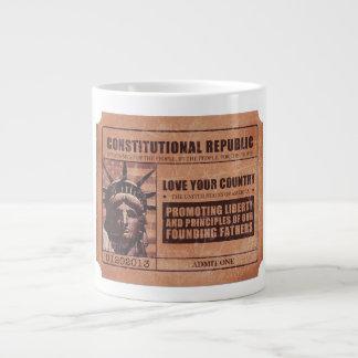 Political Ticket Giant Coffee Mug