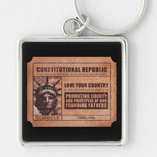 Political Ticket Keychain