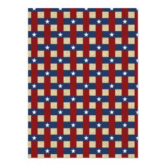 Political Weave 5.5x7.5 Paper Invitation Card