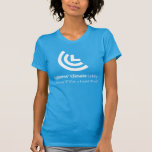 """Political Will for a Livable World Ladies Blue T-Shirt<br><div class=""""desc"""">Political Will for a Livable World Ladies Blue. Want a carbon fee and dividend policy? Wear this shirt to all of your tabling and presentation events and raise awareness about putting a price on carbon to address climate change!</div>"""