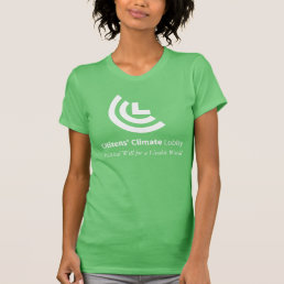 Political Will for a Livable World Ladies Green T-Shirt