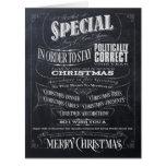 Politically Correct Chalkboard Christmas Card - I