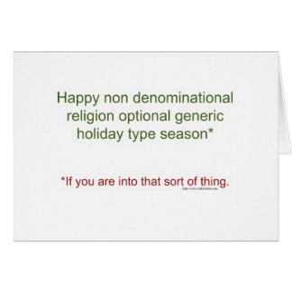 Politically Correct Holiday Card