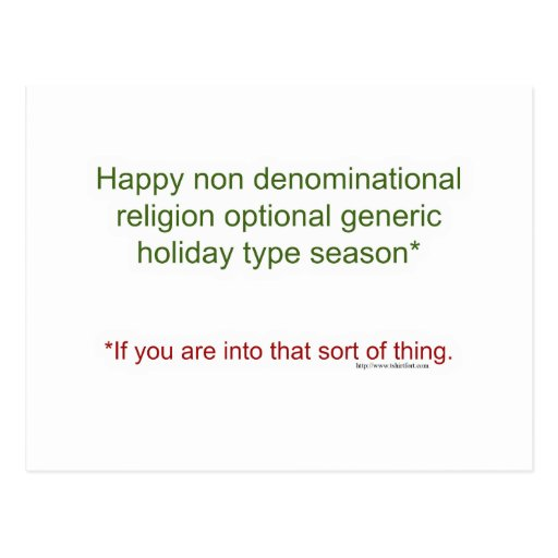 Politically Correct Holiday Post Cards