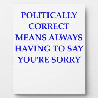 politically correct plaque