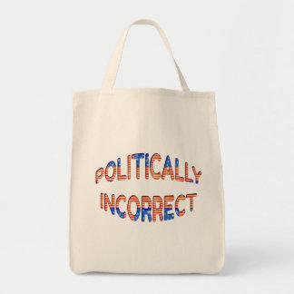 Politically Incorrect Distressed Design Tote Bag