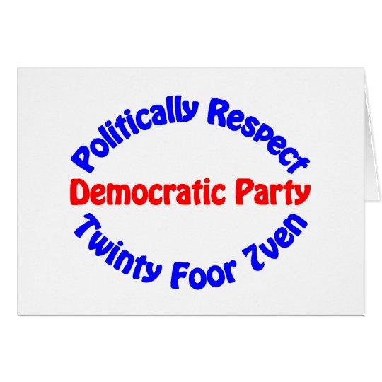 Politically Respect - Democratic Party Card