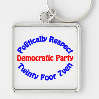 Politically Respect - Democratic Party Keychain