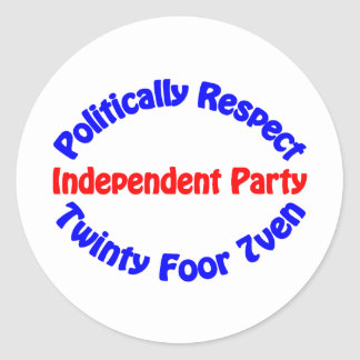 Politically Respect - Independent Party Stickers