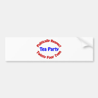Politically Respect - Tea Party Bumper Stickers