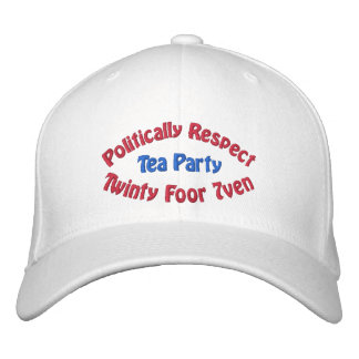 Politically Respect - Twinty Foor 7ven Embroidered Baseball Hat