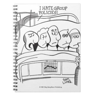 Políticas del grupo de la atención sanitaria libro de apuntes con espiral