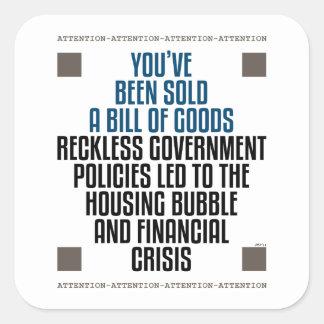 Políticas imprudentes del gobierno colcomanias cuadradas personalizadas